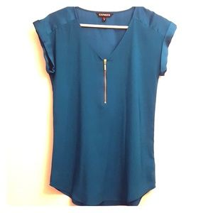 Express blue blouse in xs